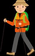 登山用の服装のイメージ