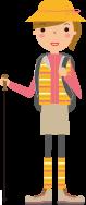 散策用の服装のイメージ